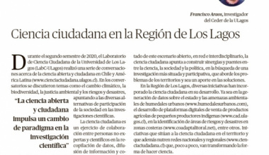 """Columna en diario """"El LLanquihue"""" de Puerto Montt sobre Ciencia Ciudadana"""
